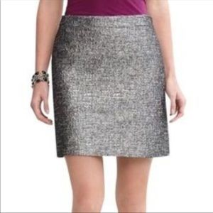 Banana Republic 14 tweed metallic pencil skirt euc